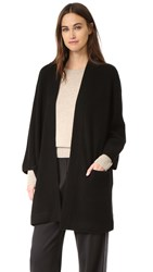 Vince Blanket Cashmere Sweater Coat Black