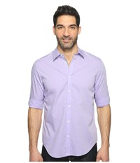 Calvin Klein Chambray Button Down Iced Purple Men's Long Sleeve Button Up