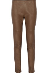 Belstaff Welton Leather Skinny Pants Brown