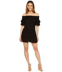 Brigitte Bailey Brylee Off The Shoulder Romper Black Women's Jumpsuit And Rompers One Piece