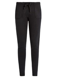 Denis Colomb Sarouel Tapered Leg Cashmere Trousers Black