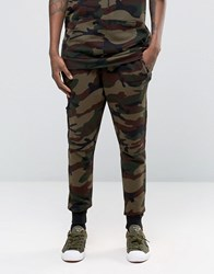 Hand Of God Camo Joggers Khaki Green