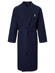 Polo Ralph Lauren Cotton Waffle Robe Navy