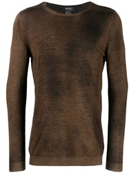 Avant Toi Fine Knit Sweatshirt Brown