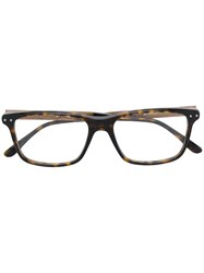Bottega Veneta Eyewear Square Frame Glasses Brown