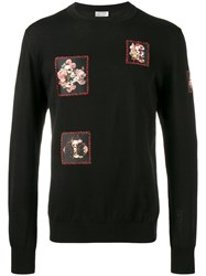 Christian Dior Homme Floral Patch Sweater Black