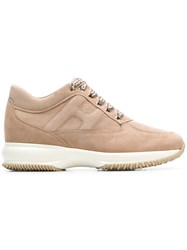 Hogan Interactive Low Top Sneakers Nude And Neutrals