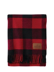 Pendleton Woolen Mills Motor Robe Wool Blanket W Carrier Red