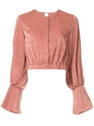 Cityshop Bell Sleeve Top Pink And Purple