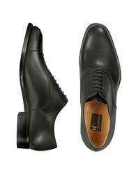 Moreschi Londra Black Calfskin Cap Toe Oxford Shoes