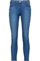 3X1 W2.5 Crop Pencil Mid Rise Skinny Jeans Mid Denim