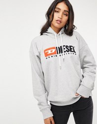 Diesel Hoody With Logo Grey