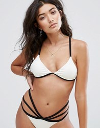 Billabong Rib Strappy Bikini Top Seashell White