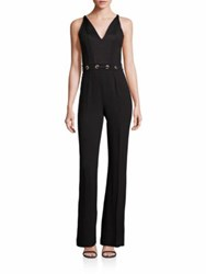 Ramy Brook Solid Sleeveless Jumpsuit Black