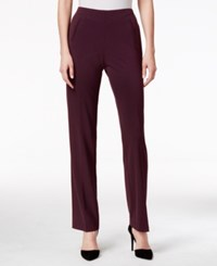 Styleandco. Style Co. Petite Straight Leg Tummy Control Pants Deep Cabernet