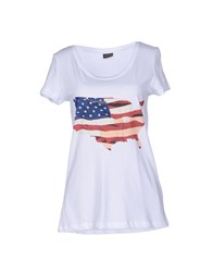 Pieces Topwear T Shirts Women White