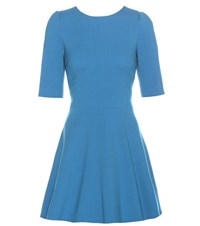 Dolce And Gabbana Virgin Wool Dress Blue