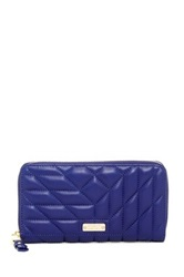 Badgley Mischka Clara Nappa Leather Quilted Wallet Blue