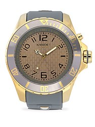 Kyboe Gold Series Stainless Steel Cyclone Strap Watch Grey