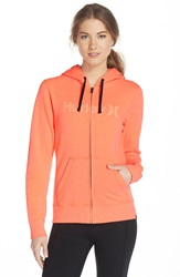 Hurley 'Icon One And Only' Fleece Hoodie Hyper Orange