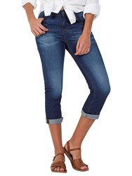 Fat Face Blue Sky Straight Leg Cropped Jeans Denim