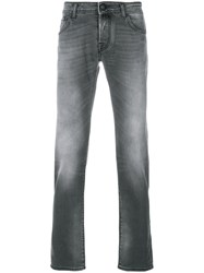 Jacob Cohen Regular Jeans Cotton Spandex Elastane Black