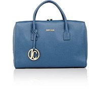 Just Cavalli Women's Boxy Satchel Blue
