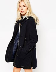 See U Soon Parka With Detachable Quilted Lining Navy