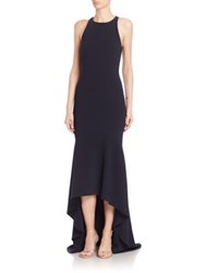 Theia Solid High Low Gown Midnight
