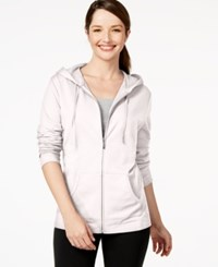 Karen Scott Petite Solid Front Zip Hoodie Only At Macy's Bright White