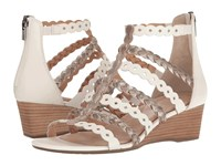 Rockport Total Motion 55Mm Wedge Gladiator Sandal White Gold Women's Wedge Shoes