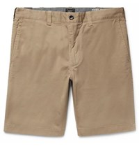 J.Crew Stanton Slim Fit Stretch Cotton Twill Shorts Beige