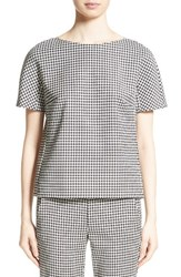 Max Mara Women's Ares Wool Blend Houndstooth Top Black
