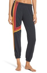 Aviator Nation Women's Blaze 4 Sweatpants Charcoal Red Stripes
