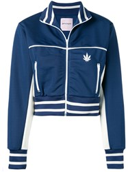 Palm Angels Cropped Track Jacket Blue