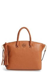 Tory Burch Taylor Leather Satchel Brown Saddle