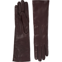 Barneys New York Cashmere Lined Long Gloves Rust
