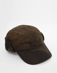 Barbour Farne Tartan Trim Cap Green