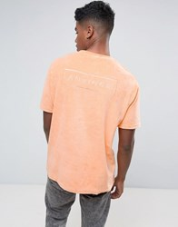 Antioch Oversized Towelling T Shirt Orange