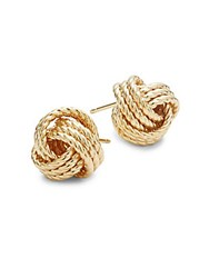 Saks Fifth Avenue 14K Yellow Gold Knot Stud Earrings