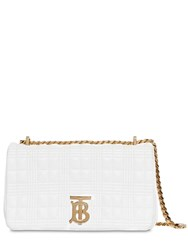 Burberry Sm Lola Quilted Leather Bag White