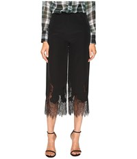 Mcq By Alexander Mcqueen Fluid Cropped Pants Black Women's Casual Pants