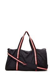 Forever 21 Active Neon Trim Duffle Bag Black Pink