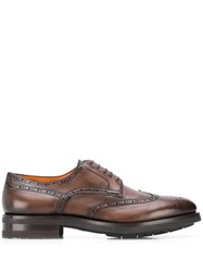 Santoni Lace Up Derby Shoes Brown