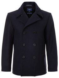 Gant Wool Pea Coat Thunder Blue