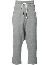 Mostly Heard Rarely Seen Cropped Track Pants Grey