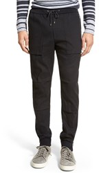 Men's Vince 'Flight' Linen Blend Jogger Pants Black