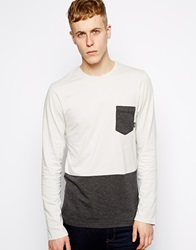 Vans Long Sleeve Top With Colour Block Grey