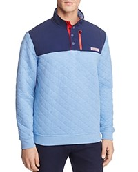 Vineyard Vines Quilted Pullover Sweater Bimini Blue