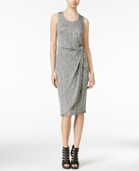 Bar Iii Heathered Knotted Sheath Dress Only At Macy's Heather Grey